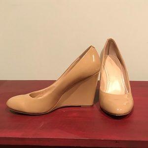 Banana Republic Patent Leather Wedge Heels